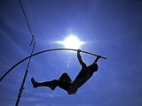Silhouette of Male Pole Vaulter