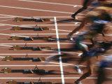Detail of Start of Womens 100M Race