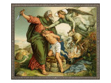 Believing he is fulfilling God's commandment Abraham tries to sacrifice Isaac instead of a ram