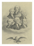 First six presidents of the United States of America