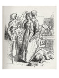 The Vicar of Wakefield - illustration from the book by Oliver Goldsmith