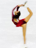 Blurred Action of Woman Figure Skater  Torino  Italy