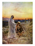 Jesus heals lepers whilst passing through Samaria  of which only one turns to give thanks