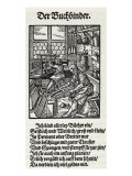 The Bookbinder' - a woodcut by Jost Amman  1568