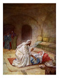 Jesus heals a sick girl  the daughter of the ruler of a synagogue  thought to be dead