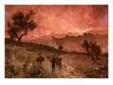 The destruction of Jerusalem by Nebuzar-Adan  sent by Nebuchadnezzar