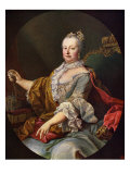 Maria Theresa (or Theresia) after painting by Martin van Meytens