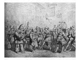 Harlequin / Arlequin at Italian Carnival 1820