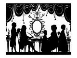 Dr Charles Burney and family silhouette