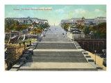 The famous steps in Odessa  Ukraine immortalised by Sergei Eisenstein's film Battleship Potemkin