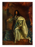 Louis XIV  King of France - after painting by Hyacinthe Rigaud  1701