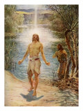 Jesus is baptised by Saint John  John I  32-34