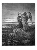 Jacob wrestling with the angel  Genesis 32 : 24 -29