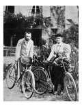 Pierre and Marie Curie with the bicycles on which they roamed the roads of France together