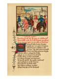 Canterbury pilgrims portrait - illuminated manuscript