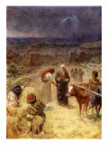King David purchasing the threshing floor of Araunah the Jebusite  2 Samuel 24 : 24 -25