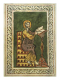 Medieval Painting of St John the Evangelist  12th Century