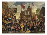 Southwark Fair (originally called 'Humours of the Fair')  engraving by William Hogarth  1933