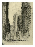 New York Stock Exchange and surrounding skyscrapers  early 20th century