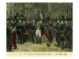 Farewells to Napoleon at the Palace of Fontainebleau after Napoleon's abdication