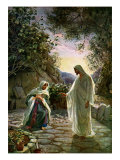 Mary Magdalene speaks to the risen Jesus after first mistaking him for the gardener