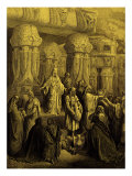 Cyrus king of Persia  restores the gold and silver vessels taken by king Nebuchadnezzar