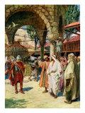Jesus heals a centurion's servant  Matthew viii 5-13