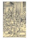 Medieval torture scene