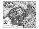 St Petersburg - plan of the Russian city  1738