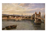 Alte Rheinbrucke  old bridge crossing the river Rhein (Rhine) in Bonn  Germany  early 20th century