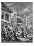 Morning  London streets - engraving by William Hogarth