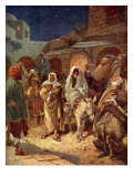 Mary and Joseph enter Bethlehem  Luke II  4- 7