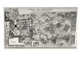 Map of the Parc de Monceau  1718  France  during reign of Louis XV