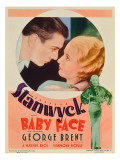 Baby Face  George Brent  Barbara Stanwyck  Barbara Staynwyck on Midget Window Card  1933