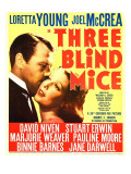 Three Blind Mice  Joel Mccrea  Loretta Young on Window Card  1938