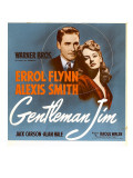 Gentleman Jim  Errol Flynn  Alexis Smith on Window Card  1942