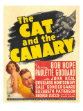 The Cat and the Canary  Paulette Goddard  Bob Hope on Window Card  1939