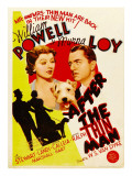 After the Thin Man  Myrna Loy  Asta  William Powell on Midget Window Card  1936