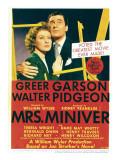 Mrs Miniver  Greer Garson  Walter Pidgeon on Midget Window Card  1942