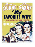 My Favorite Wife  Cary Grant  Irene Dunne  Gail Patrick on Window Card  1940