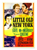 Little Old New York  Richard Greene  Alice Faye  Fred Macmurray on Midget Window Card  1940