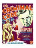 The Criminal Code  Phillips Holmes  Constance Cummings  Walter Huston on Window Card  1931