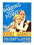 Double Harness  Ann Harding  William Powell on Midget Window Card  1933