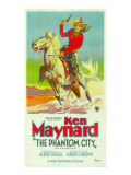 The Phantom City  Atop Horse: Ken Maynard; 3-Sheet Poster  1928
