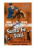 Santa Fe Trail  Errol Flynn  (Poster)  1940