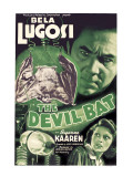 The Devil Bat  Bela Lugosi (Top)  Suzanne Kaaren (Bottom)  1940