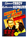 Keeper of the Flame  Spencer Tracy  Katharine Hepburn on Midget Window Card  1942