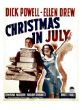Christmas in July  Dick Powell  Ellen Drew on Window Card  1940