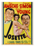 Josette  Robert Young  Simone Simon  Don Ameche on Midget Window Card  1938