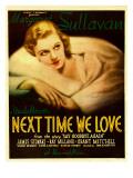 Next Time We Love  Margaret Sullavan on Window Card  1936
